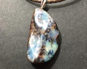 Australian Boulder Opal Necklace B-15360