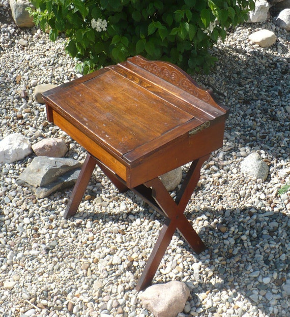 Antique School Desk Childs Wood Desk With Slate Double Hinged