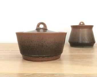 Knabstrup Denmark Nøddebo small lidded ceramic jar