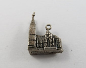 Cologne Cathedral Building in Cologne Germany Sterling Silver Charm or Pendant.