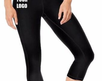 Yoga capris, workout pants, capris. Black, yoga pants