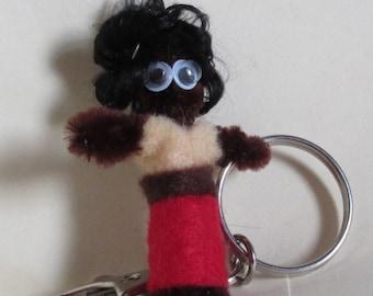 Red skirt key chain