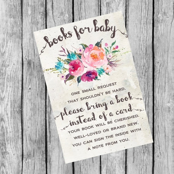 books for baby book request baby shower book request 4x6 instant