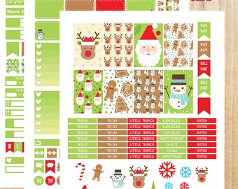 Happy Planner Stickers, MAMBI Stickers, Printable Stickers, Winter Stickers, Christmas Stickers, Winter Weekly Sticker Kit, Monthly Stickers