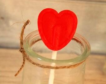 Lollipop red love heart