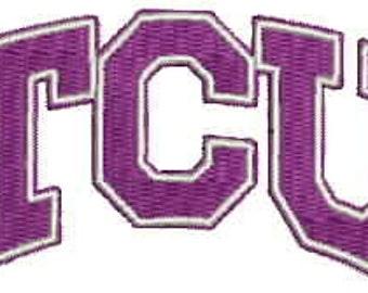 TCU Embroidery Design