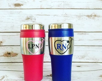 RN Coffee Thermos / Registered Nurse / CNA / LPN Coffee Thermos