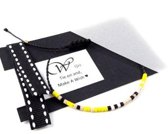 Cord Bracelet Adjustable Multicolor Bracelet Waxed Cord Bracelet  Macrame Knot Bracelet Sliding Knot