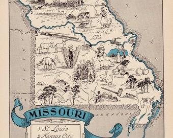 Missouri Print Etsy - Missouri map usa