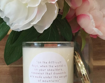 Soy Candle With Your Own Custom Message Printed