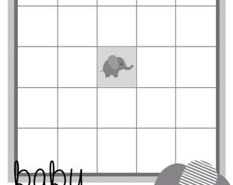 Elephant Baby Shower Bingo