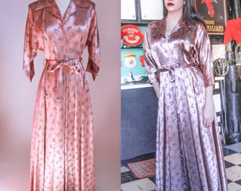 Unique Pink Satin Robe Related Items Etsy