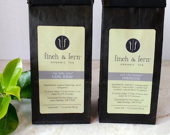 TEA GIFT PACK: 2 bags of your choice of organic teas