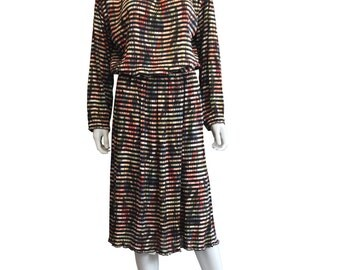 Striped Missoni Brown Label  Knitted Dress