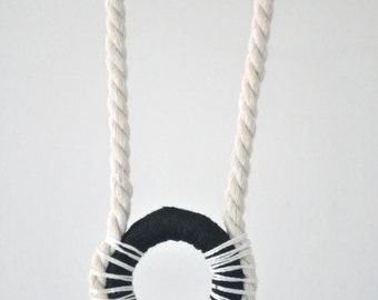 Cotton & Rope pendant handcrafted by Oh Josephine.
