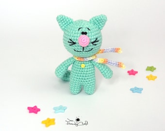 Plush cat soft toy Cat doll Cat lover gift Stuffed cat toy Plush kitten Stuffed kitten Amigurumi cat Crochet cat stuffed toy Stuffed animals