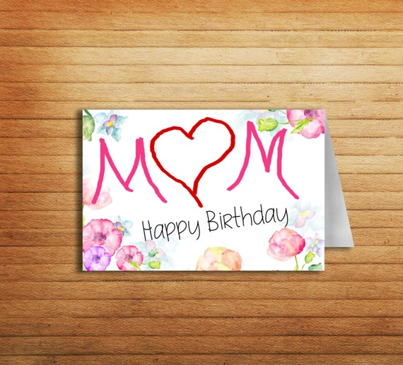 Mother Birthday Card Printable Mom card for Mum by ...