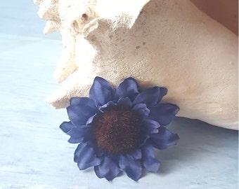 Blue Flower hair clip
