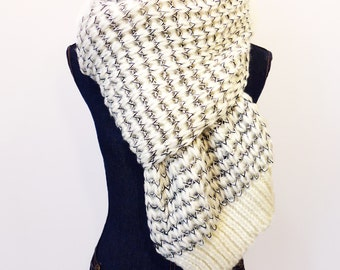 Large Knitted Scarf, Extra Long Knitted Scarf
