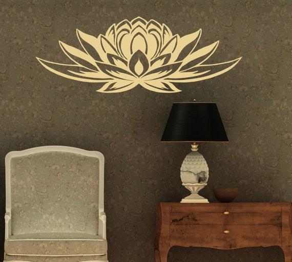 Wall Art Stickers East Rand : Wall vinyl decals lotus flower symbol home art sticker mural