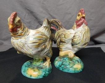 Rooster & Hen Figurines