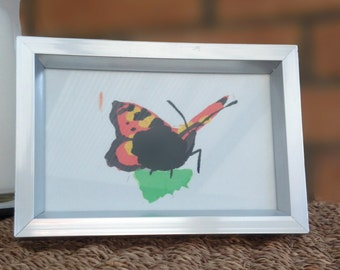 "Illustration Print - Tortoiseshell Butterfly (5.6""x3.7"")"