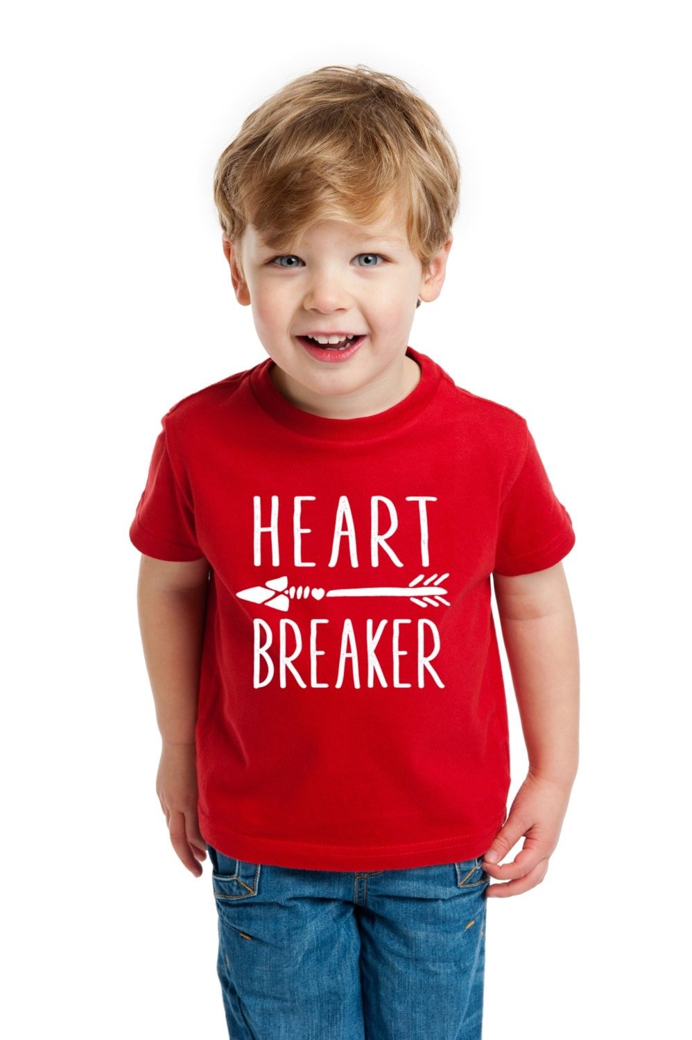 Valentine's Day Shirt for Kids or Toddlers Heart Breaker