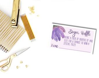 Diaper Raffle Ticket, Baby Shower Tea Party