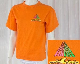 RAD Vintage retro 80's 90's surf orange tee shirt