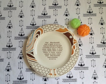 Old McDonalds Rooster~Farmland Friends Plate~Children's Song~Old McDonald~Rooster Plate