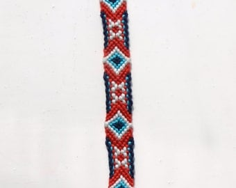 Handmade macrame bracelet geometry summer festival