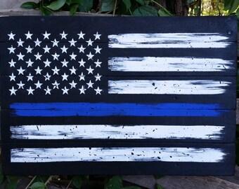 LEO Flag, Thin Blue Line American Flag, Police flag