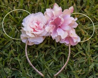 Blush Flower Ears