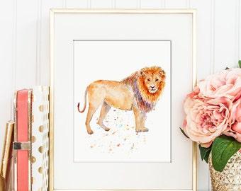 Lion Bathroom Decor Etsy