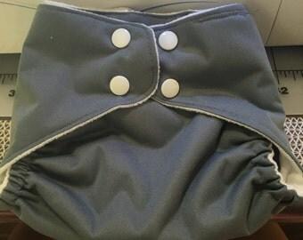 OS Cloth Diaper Envelope Pocket Slate Gray