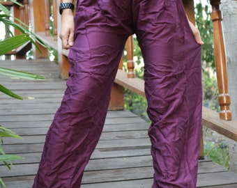 Hippie pants harem pants yoga pants  cozy pants unisex Purple