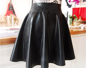 Plus Size Latex Skater Skirt (Ready to Ship)
