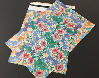 200 10x13 Designer Poly Mailers Flowers Paisley Blue Pink Envelopes Shipping Bags