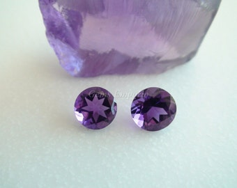 February Birthstone Natural African Amethyst 8 MM Faceted Round. Excellent Color and Quality. Price per piece.