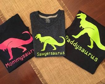 Dinosaur Family Shirts - Dinosaur Birthday Shirt - Daddysaurus shirt - Mommysaurus shirt - Babysaurus shirt - Boys Dinosaur Shirt - Dinosaur