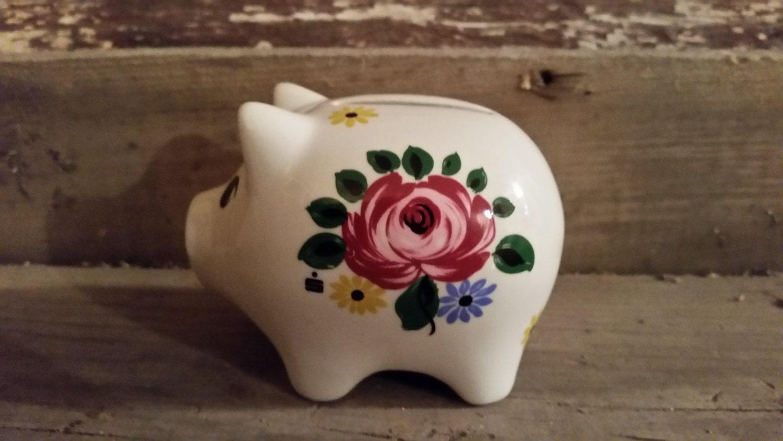 Piggy Bank Vintage Porcelain Piggy Bank Hand By