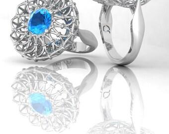 2ct stone corset ring