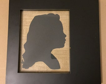 TWO Hand Cut Paper Silhouettes
