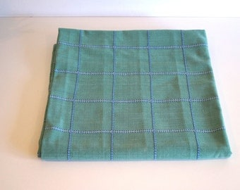 Vintage green checkered tablecloth by INDISKA BAZAAR MAGASINET made in Sweden 100 % cotton Scandinavian design Table cloth Swedish Textiles