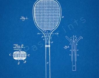 Tennis Printable | Tennis Racket | Tennis Wall Art | Tennis Art | Tennis Print | Tennis Decor | Patent Poster | Patent Print | Sports | Gift