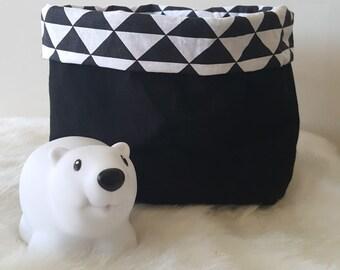 Reversible fabric baskets