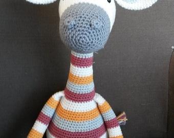 Gehaakte knuffels, Giraffe Gijs, amigurumi