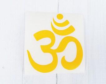 Yoga Ohm Decal | Yoga Ohm Sticker| Yoga Decal |Ohm Decal | Ohm coffee cup decal | car decal | iPhone decal | Yeti decal