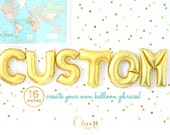 """Year End SALE!! 16"""" CUSTOM GOLD letter A to Z- create your own phrase gold foil balloon - party balloon - bridal/baby shower party decor"""