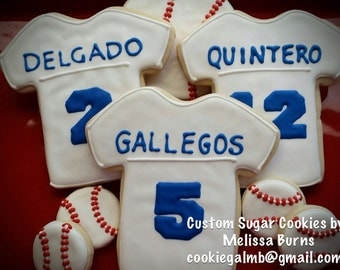 Baseball Jersey Cookies